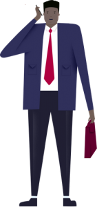Man holding phone illustration reflecting job seekers